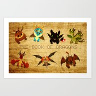 Art Print featuring The Book Of Dragons by Le Bear Polar