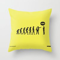 WTF? Evolution! Throw Pillow