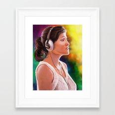 Adorable face Framed Art Print