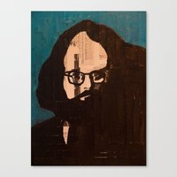 Who stood before you speechless — Allen Ginsberg Canvas Print