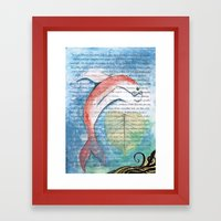 Fish of Far-Sightedness Framed Art Print