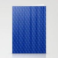 Blue Diamond Pattern Cur… Stationery Cards