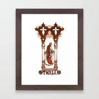 Othello, Moor of  Venice - Shakespeare Illustration Framed Art Print