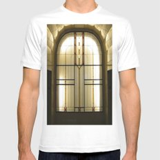 Candle Glass SMALL Mens Fitted Tee White