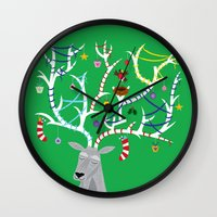 The Reindeer And The Rob… Wall Clock