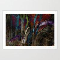 Funky Woods - JUSTART © Art Print