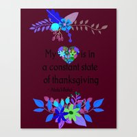 My Heart Is In A Constan… Canvas Print