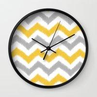 Chevron IKAT Wall Clock