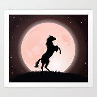 Moon Rider Art Print