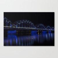 Railroad bridge Canvas Print