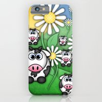 iPhone & iPod Case featuring Cows & Daisies  by Digi Treats 2