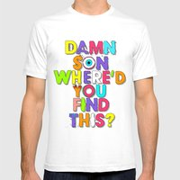 Damn Son / Green Edition Mens Fitted Tee White SMALL