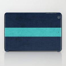 classic - navy and aqua iPad Case