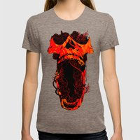 Chaos and Clarity ~ Red Womens Fitted Tee Tri-Coffee SMALL