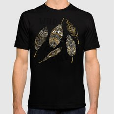 Wild & Free  Mens Fitted Tee Black SMALL