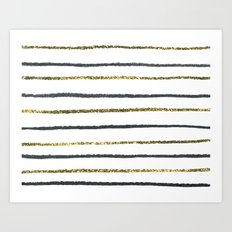 Golden Black Art Print
