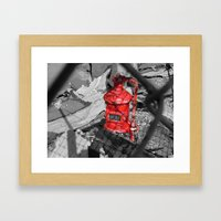 Old Fire Hydrant Framed Art Print