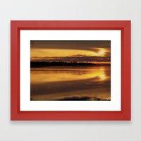 September Sunset Splash Framed Art Print