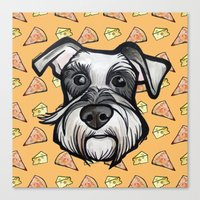 Peter loves pizza and cheese Canvas Print