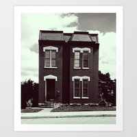 She's A Brick House (b&w) Art Print