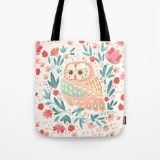 Little Pink Owl Tote Bag