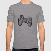 Playstation controller Mens Fitted Tee Athletic Grey SMALL