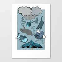 Raining Animals Canvas Print