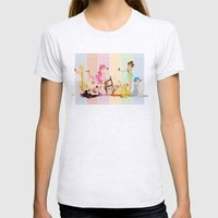 Sailor Moon Pinup - Cupcakes Womens Fitted Tee Ash Grey SMALL