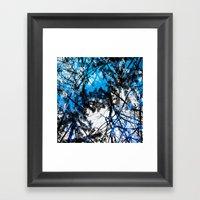 Blue Tree Pillow One Framed Art Print