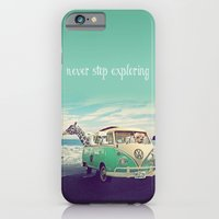 iPhone Cases featuring NEVER STOP EXPLORING THE BEACH by Monika Strigel