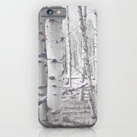 Black and White Aspens iPhone 6 Slim Case
