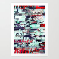 Glitch Decon 3 Art Print