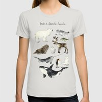 Arctic & Antarctic Anima… Womens Fitted Tee Silver SMALL