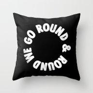 Throw Pillow featuring Round & Round by Eric Zelinski