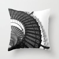 Spiral Stairs Throw Pillow