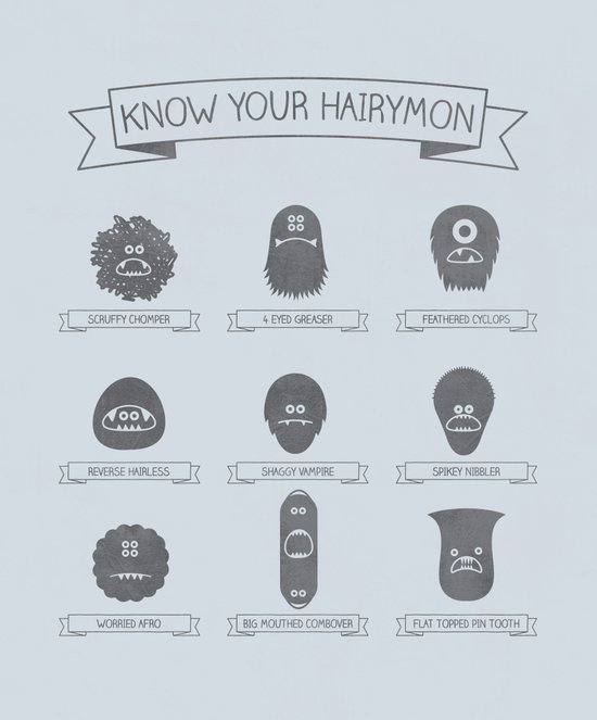 Know Your Hairymon Art Print