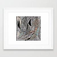 Silver Jewel Framed Art Print