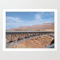 Colorado River Bridge Art Print