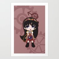 Steampunk Sailor Mars - … Art Print