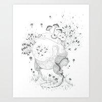 Dying Giants - Ascending Art Print