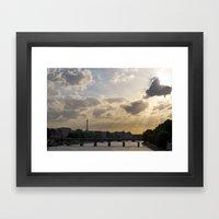 Sunset Over Paris Framed Art Print