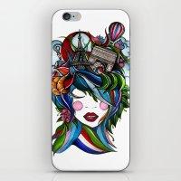 iPhone & iPod Skin featuring Paris girl by Lera Razvodova