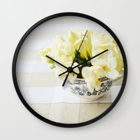 Spring in a cup Wall Clock