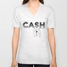 In Johnny Cash We Trust. Unisex V-Neck