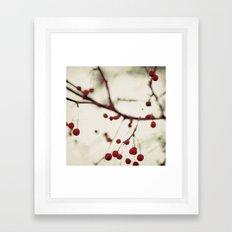 dark berries Framed Art Print