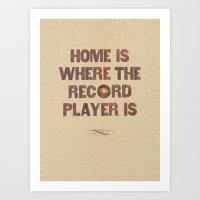 Home Is Where... Art Print