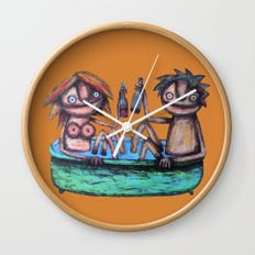 In the bath Wall Clock