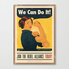 Leia the Riveter 2: The Alliance Strikes Back Canvas Print