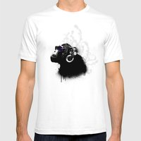Monkey Tripping - Black Mens Fitted Tee White SMALL
