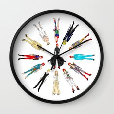 Gray Bowie Group Fashion Outfits Wall Clock